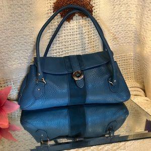 Cole Haan EPI Blue leather purse
